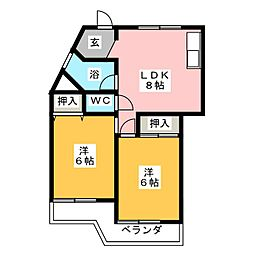 第2宮地ビル江南[3階]の間取り
