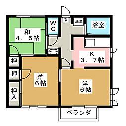 フレグランス泉崎[1階]の間取り