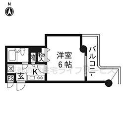 DETOM−1二条城南907[9階]の間取り