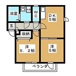 グランヒル箱崎[2階]の間取り