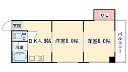 大阪府大阪市港区港晴1丁目の賃貸マンションの間取り