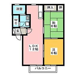 ラフォーレ小泉[1階]の間取り