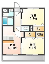 ファームガーデン[1階]の間取り