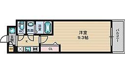 阪急京都本線 上新庄駅 徒歩17分の賃貸マンション 2階1Kの間取り