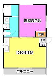 コーポ斉藤III[2階]の間取り