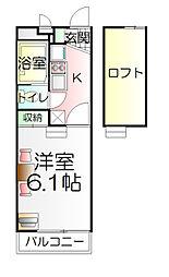 東京都足立区竹の塚5丁目の賃貸マンションの間取り
