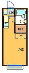 ハイツ平山[201号室]の間取り