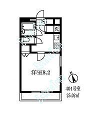 東京都世田谷区等々力5丁目の賃貸マンションの間取り