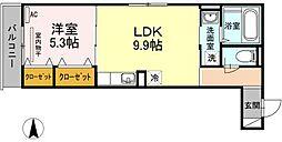 ヴィーブルS武蔵新城[2階]の間取り