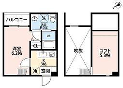 pavillon honnete biwajima(パビユウ[1階]の間取り