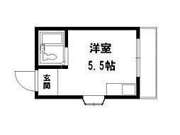 カーナハイツ[4階]の間取り