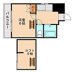 福岡県福岡市城南区神松寺1丁目の賃貸マンションの間取り
