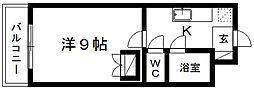 静岡県浜松市中区高林2丁目の賃貸マンションの間取り