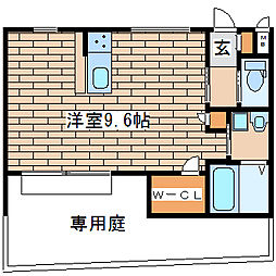 兵庫県明石市上ノ丸2丁目の賃貸アパートの間取り