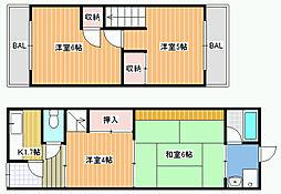 [一戸建] 大阪府松原市高見の里6丁目 の賃貸【/】の間取り