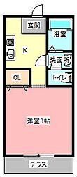 サワコーポ[1階]の間取り
