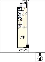 トリニティM3[3階]の間取り