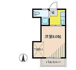 西府マンション[1階]の間取り