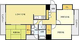 オリエンタルH−FK[4階]の間取り