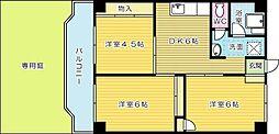 水町ブルーコーポ[105号室]の間取り