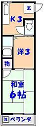 菊田マンション[3C号室]の間取り