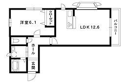モンテボヌール2[106号室]の間取り