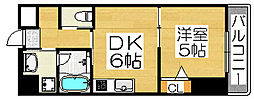 住吉橋ポルト[5階]の間取り