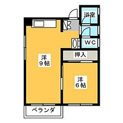 サザン栄[1階]の間取り