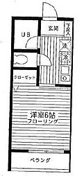 東京都文京区向丘2丁目の賃貸アパートの間取り