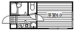 東京都足立区梅田5丁目の賃貸アパートの間取り