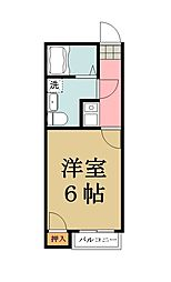 平成草加ビル[202号室]の間取り