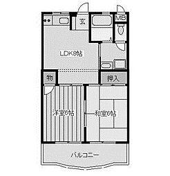 メルベーユオークラ[3階]の間取り