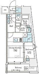 東京都渋谷区東2丁目の賃貸マンションの間取り