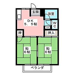 メゾンパール B[1階]の間取り