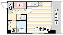 兵庫県神戸市兵庫区大開通1丁目の賃貸マンションの間取り