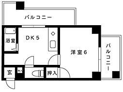 プラム住吉[3B-b号室]の間取り