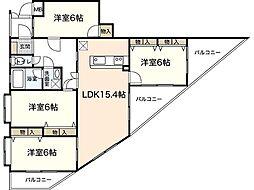 ラ・セーヌKoi[1階]の間取り