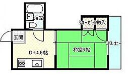 広島県広島市安佐南区安東2丁目の賃貸マンションの間取り