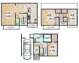一戸建て(西宮北口駅からバス利用、94.52m²、3,780万円)
