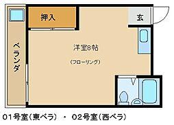 岡崎ハイツ[201号室]の間取り