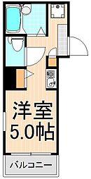senju appartement[F203号室]の間取り