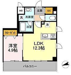 神奈川県川崎市多摩区菅4丁目の賃貸マンションの間取り