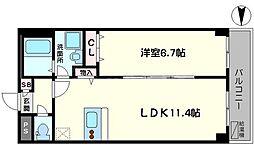 KSレジデンス江坂西 3階1LDKの間取り