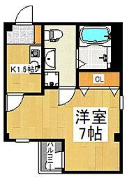 ハウス12 3階ワンルームの間取り