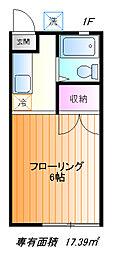 第2西川ハイツ[1f号室]の間取り