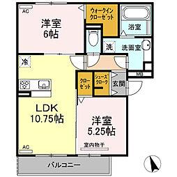 仮)D-room半田市大高町 A棟[202号室]の間取り