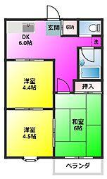 フリーベル横須賀[101号室]の間取り