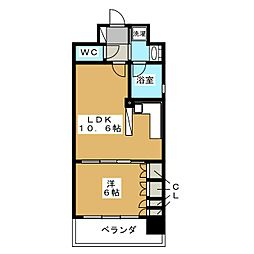 リーガル京都河原町五条II[7階]の間取り