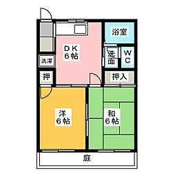 コーポウサミ A棟[1階]の間取り