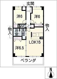 NORTH FORTUNA[6階]の間取り